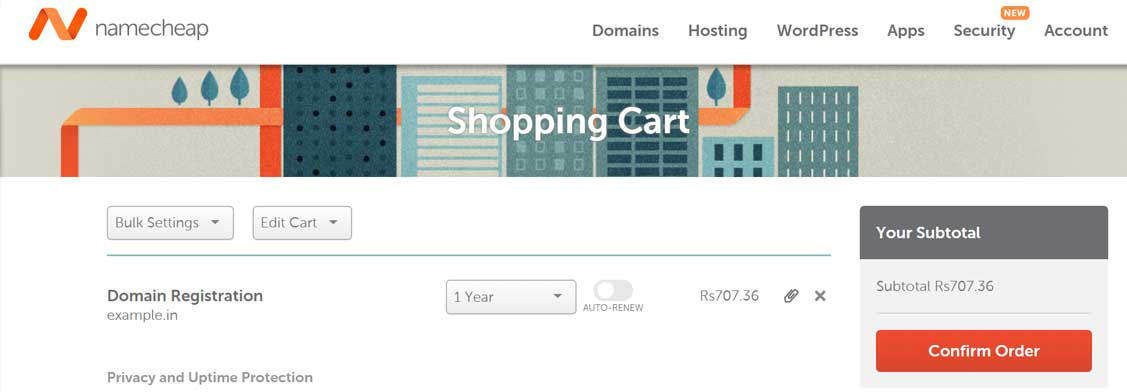 Add to cart namecheap