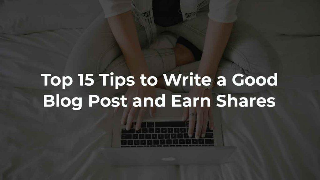 write a good blog post