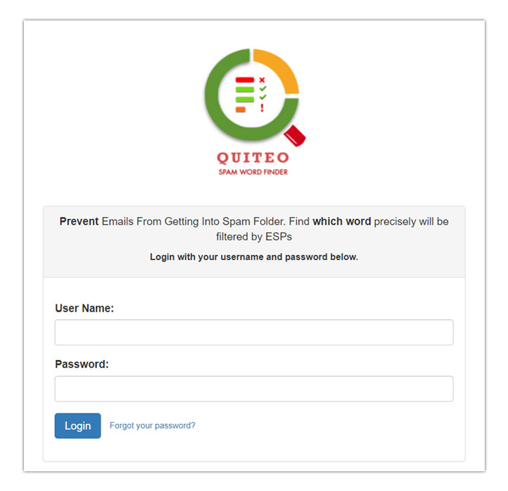 Quiteo-Spam-Finder
