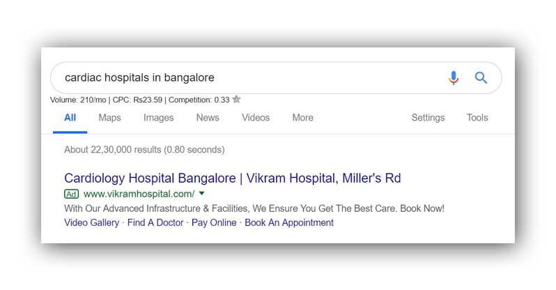 Google-Search-Ad-for-Hospitals